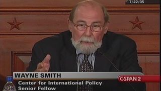 Wayne Smith, Retired US State Department official, Chief of Mission