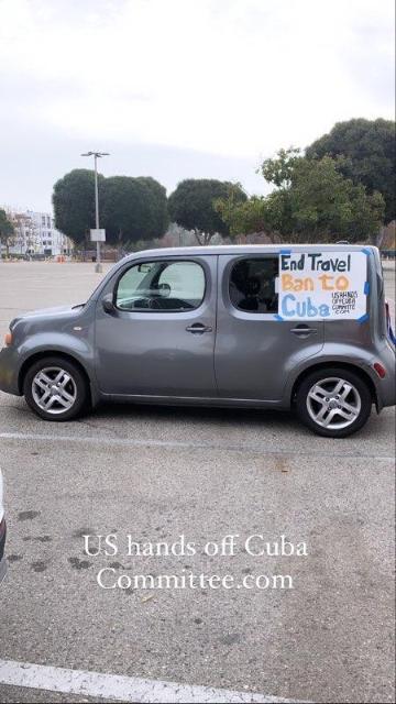 LA Caravan Cuba Solidarity