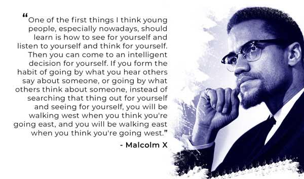 Malcolm X's quote