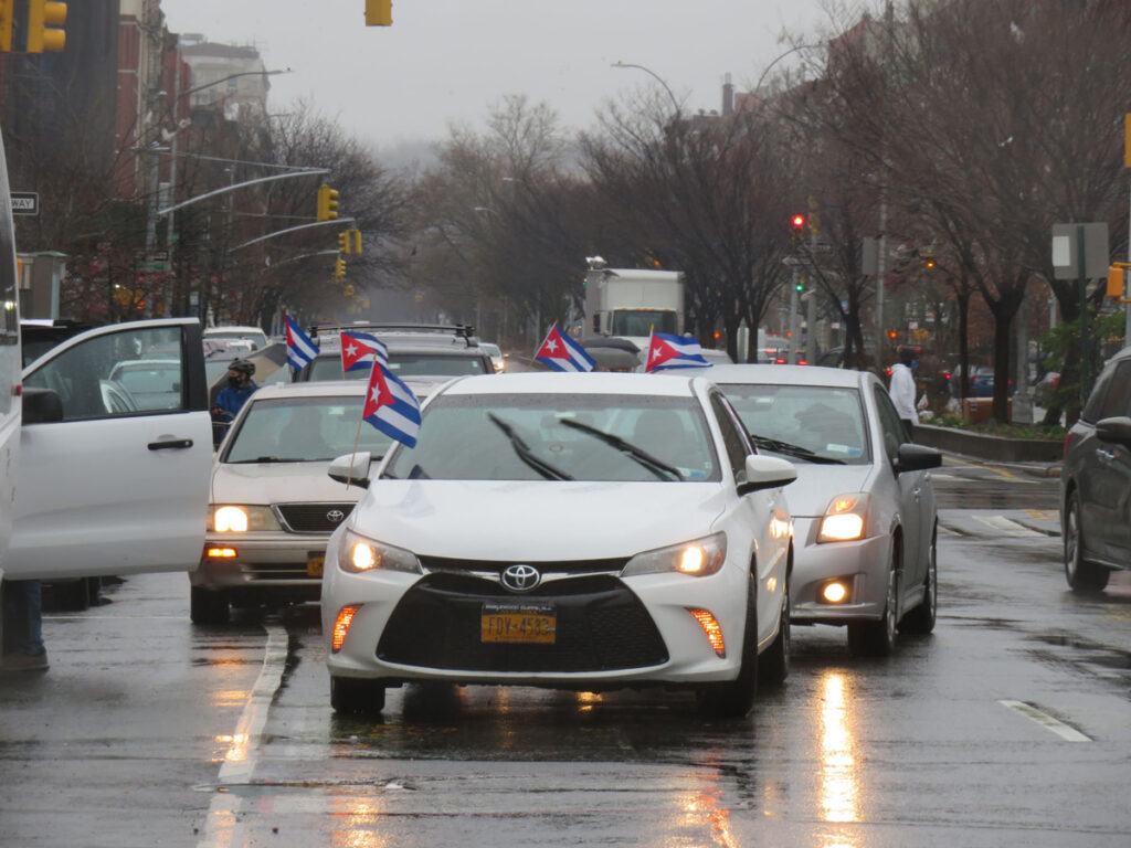 NYC Car Caravan Cuba Solidarity Rally