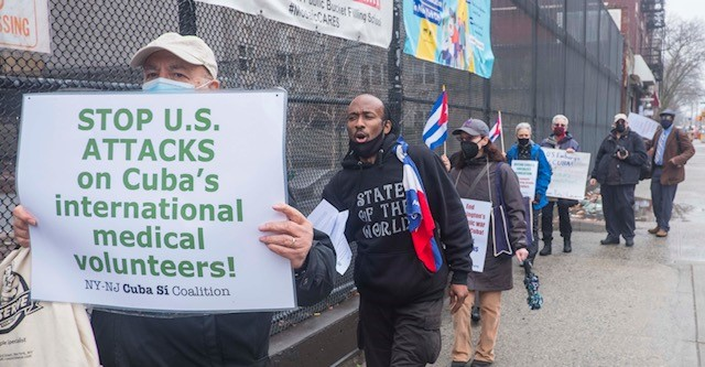 SOLIDARITY WITH CUBA! DOWN WITH THE BLOCKADE!