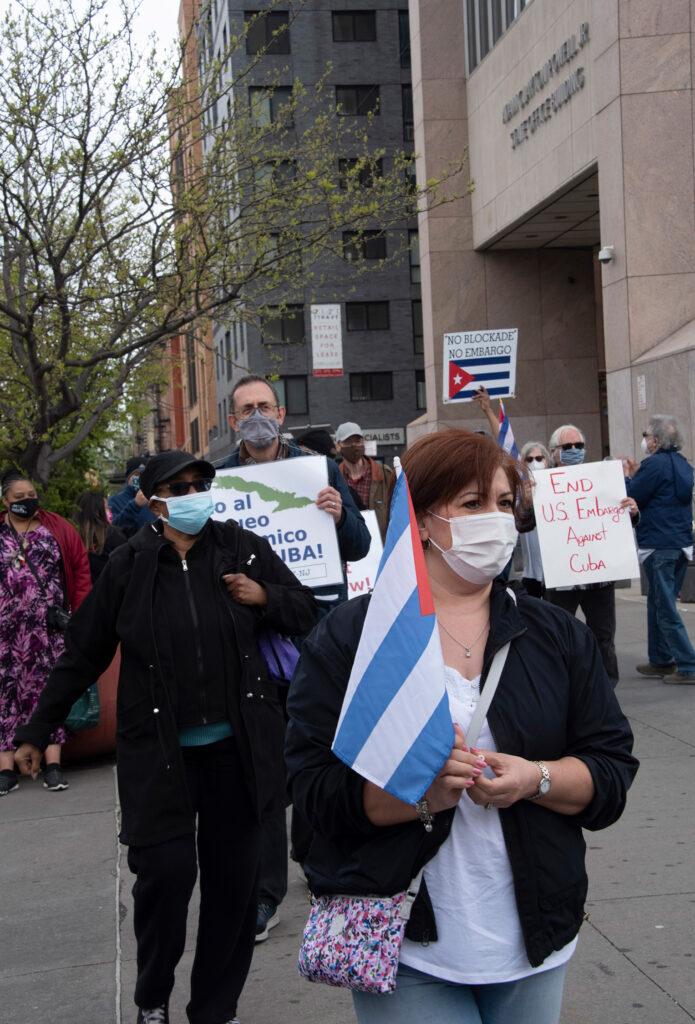 Photos of April 25 NY-NJ car and bike caravan against US embargo of Cuba