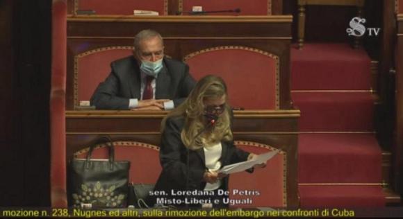 Italian Senate Initiative against US Blockade of Cuba