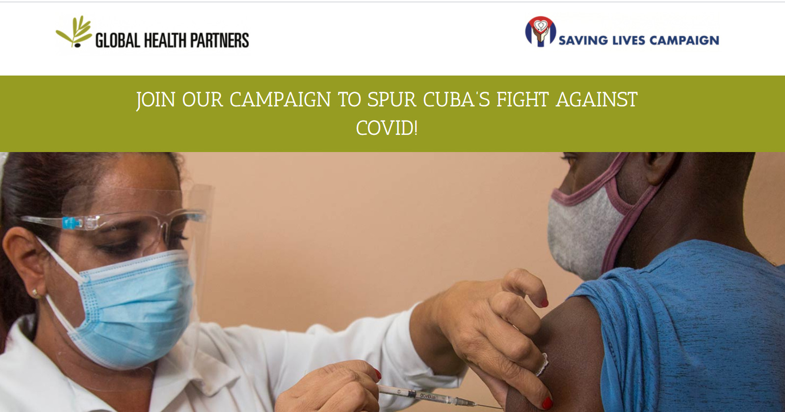 JOIN OUR CAMPAIGN TO SPUR CUBA'S FIGHT AGAINST COVID!