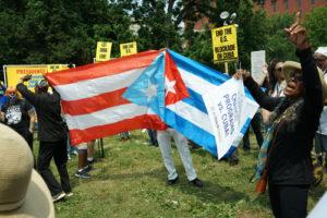 End the blockade of Cuba protest in Washington DC 2021